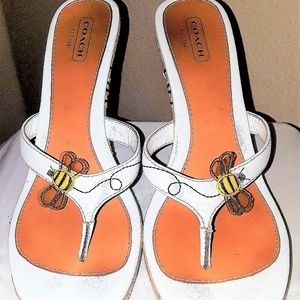 Coach Bee Wedges  (Size 11)